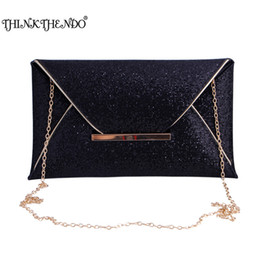 Wholesale Wedding Envelopes Green - Wholesale- 2017 Luxury Shiny Hand Bags Envelope Clutch Bag Glitter Ladies Wedding Bags Evening Bags for Women Party Black Purse handbag