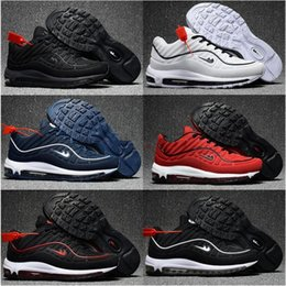 Wholesale Large Lace Appliques - hot sell air large size men women Running shoes cushion 98 super x Lab athletic Training Sporting Shoes Sneakers size 36-47