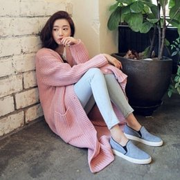 Wholesale Cardigan Plain - HOT SALE Winter Autumn Coat Casual Plain Knitted Long Maxi Cardigan Hollow Oversize Tricotado Sweater Dress Slim Knitwear 8965