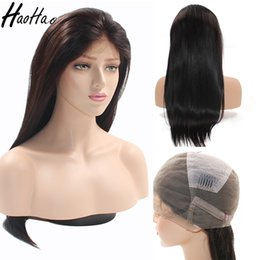 Wholesale hair wigs nature - Human hair Brazilian hair Lace Front Wigs Brazilian Human Hair straight hairfor nature Women 150% Density Natural color