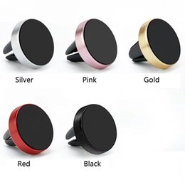 Wholesale Racks For Cars - Universal Air Vent Magnetic Car Mount Holder for Cell Phones and Mini Tablets with Swift-Snap Air outlet Mobile Phone Rack alloy car Holders