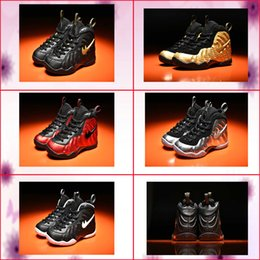 Wholesale Cheap Black Snow Boots - kids shoes air Penny Hardaway One black white cheap kid basketball shoes boys grils light up running sneakers Sports trainers shoe with box