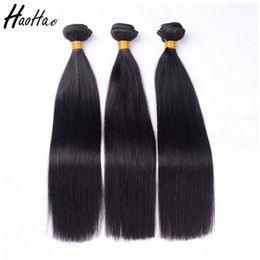 Wholesale Double Drawn Body Wave - 8A Brazilian Peruvian Malaysian Virgin Hair Remy Human Hair Silky Straight Body Wave Hair Weave 3 Bundles Double Drawn
