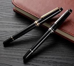 Wholesale Fountain Balls - TOP GRADE MEISTERSTUCES 163 BALLPOINT ROLLER BALL FOUNTAIN PENS BLACK AND SIER GOLDEN MB GEM GERMANY BRAND SERIAL NUMBER AAA+ HIGH QUALITY