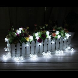 Wholesale Lotus Flowers Indoors - 20 LED solar powered Lotus Flower outdoor string lights solar lantern lamps for Garden Wedding Christmas Party Festival Outdoor Indoor Decor