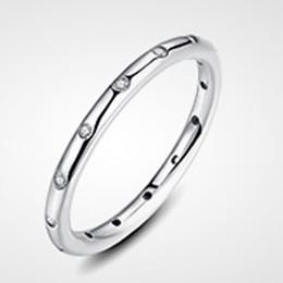 Wholesale Elegant Mum - 925 Silver Rings Transparent zircon Design sense Elegant simple women girl Gift for mum girl friend lover