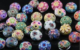 Wholesale Polymer Clay Bracelets - 50pcs lot mix designs polymer clay NEW Women 18mm Snap It press button Charm Fit Snaps Style leather Bracelets Free ship