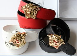 Wholesale gift boxes for belts - Hot New 3 colors Luxury High Quality Medusa Designer Fashion buckle belt mens womens belt ceinture with box for gift