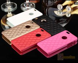 Canada Étui de luxe en cuir de mouton pour iPhone 6 6 Plus couleur blanche Couverture avec bord mat pour iphone6 + 5.5