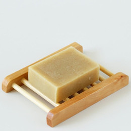 Wholesale Soaps Boxes - Free Shipping Wooden Soap Dishes Bathroom Soap Tray Soap Holder Soap Box