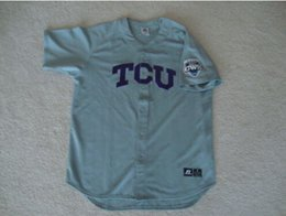 Wholesale 30 Teams TCU Horned Frogs NCAA CWS College World Series Baseball Jersey S XL Retro Throwback Baseball Jerseys