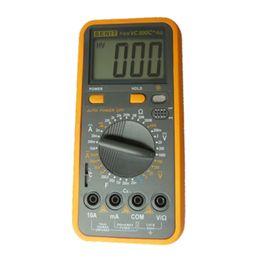 Wholesale Digital Multimeter Large Lcd - Wholesale Large LCD Screen Professional Hand Tool Digital Multitester Manual HFE Temperature Measure Multimeter Ammeter voltmeter VC890C