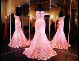 Wholesale Exquisite Trumpet Flower - Exquisite Mermaid Velvent Prom Dresses 2016 Hollow Sweetheart Sequined Chiffon Zipper Custom Made Pink Prom Party Gowns Fashionable