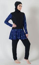 Wholesale Islamic Clothing Women Wholesale - 2018 New Printed Flare Skirt Swimwear Burkini bikini women swimwear Large Size Swimsuit Plus Size Islamic Clothing