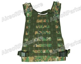 Wholesale Tactical Vest Woodland - Fall-New Airsoft Tactical Molle Plate Carrier Adjustable Vest Digital Woodland sports vest free shipping