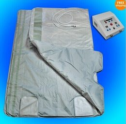 Wholesale Far Fir Infrared Sauna Blanket - Quick effect 2 Zone Infrared Sauna Blanket FIR Far infrared Slimming heating SPA Therapy PORTABLE WEIGHT LOSS DETOX machine