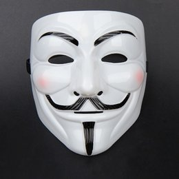 Wholesale Cheap Cosplay Costumes For Sale - Hot Sale Halloween Party Mask V Mask For Vendetta Anonymous Guy Fawkes Adult Costume Accessories Cosplay Masks Cheap