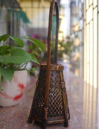 Wholesale Bamboo Flower Basket - Japanese bamboo crafts handmade tea flower basket