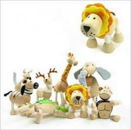 Wholesale Wholesale Zoo Animals - Retail Wildlife Maple Australia Anamalz 23pcs lot Kawaii Pet Shop Animal Wooden Poseable Forest Zoo Doll Model Action Figures Toy Baby Gift