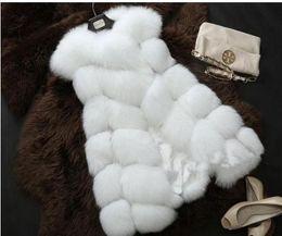 Wholesale Long Faux Fur Gilet - Women's coat faux fox fur vest shitsuke fuorrure femme fur vests fashion luxury peel women's jacket gilet veste