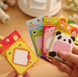 Wholesale Free Animal Stationary - Stationary Papelaria 2015 New Arrival Brand free Shipping Hot Sales Cute Lovely Animals Memo Pad Sticky Note Sticker Label PaperJIA115