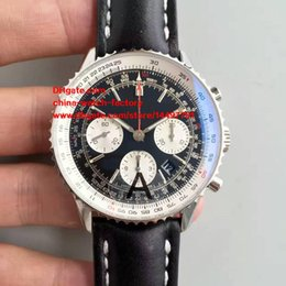 Wholesale Swiss Automatic Movement Chronograph - 3 Style Best Edition Watch JF Factory 43mm Navitimer AB012012 BB01 Chronograph Working Swiss ETA 7750 Movement Automatic Mens Watch Watches