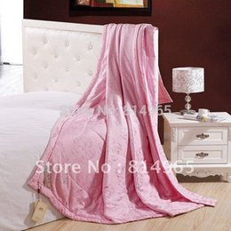Wholesale Hotel Quality Duvets - Wholesale- King 100% Mulberry Silk Filled Winter Silk Filling Weight:2600g Pink Best-Quality Duvet Quilt Comforter King Or Make Any Size