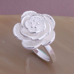Wholesale Mixed Order Rings For Women - J122 Factory Price Sale Flower Silver Rings New 2014, Christmas Gift For Women Mix Order