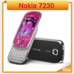 Wholesale Bluetooth Symbian - 7230 Original Nokia 7230 Bluetooth FM JAVA 3.15MP Unlocked cell Phone Free Shipping