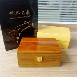 Wholesale Wristwatch Storage - High Qaulity Luxury BIG Fashion Wood Watch Box With Pillow Package Case Wristwatches Boxes Jewelry Storage Gift Display