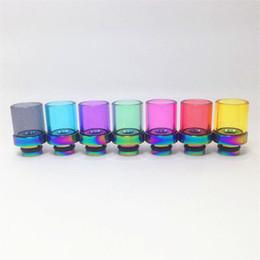 goon lp goutte à goutte Promotion Nouveau Rainbow Glass Drip Tips à large alésage Coloré Verre Pyrex Rainbow Drip Tip en acier inoxydable pour CE4 DCT vitesse RDA Mod réservoir Atomiseur