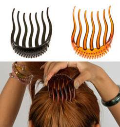 plastic hair comb clips Promo Codes - Min.Order Bump It Up Volume Inserts Hair Clip For Ponytail Bouffant Styles Hair Comb