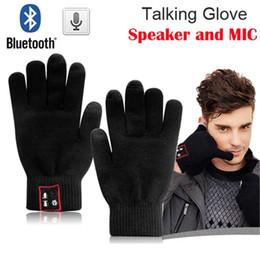Altofalante do telefone do moblie on-line-Super Hi Chamada Bluetooth Luvas de Tela de Toque Móvel Speaker Headset Magia Falando Luvas Para Telefones Moblie