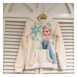 Wholesale Children Hoody Outwear - Frozen Princess Elsa Girl's children zipper hooded Outwear Winter Warm Coat Girls Hoodies Sweatshirts kids Baby hoody Jackets
