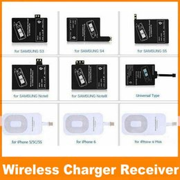 Wholesale S4 Charging Pad - Qi Charger Receiver Wireless Charging Adapter Receptor Receivers Pad Coil For Samsung Galaxy S3 S4 S5 Note 2 3 iphone 5S 6 6S OM-QI