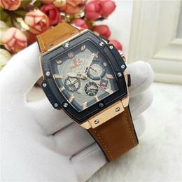 Wholesale Big Bang Watch Strap - Swiss top brand sports watch men's luxury quartz watch Rubber strap fashion military Wristwatches Spirit of Big Bang Chronograph AAA