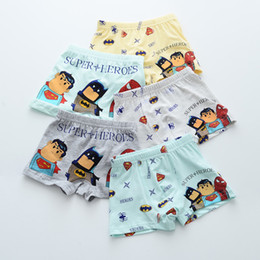 Wholesale Cotton Boxer Boy - Free shipping 2017 new male baby cartoon full cotton boy boxer boxer boxer boxers