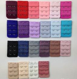 Canada 1000pcs dames 2 crochets soutien-gorge sangle extender crochet clip parfait nude ceinture réglable boucle multi couleur disponible cheap adjustable bra clips Offre
