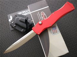 """Wholesale Custom Aluminum Boxes - Marfione Custom Microtech Halo IV Prototype Rev. II D2 steel ( 3.86"""" Mirror Polish Plain ) Drop point Collection knives with retail box"""