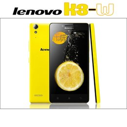 примечание lenovo k3 Скидка Оригинальный Lenovo Lemon K3 K3W K3 Note Lite 4G LTE смартфон 5.0-дюймовый IPS-экран 1G RAM 16G ROM Android4.4