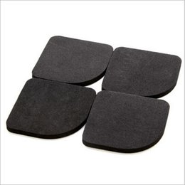 Wholesale Refrigerator Japan - 1set lot Black Color Multifunctional Washing Machine Shock Pads Non-slip Mats Refrigerator Shock Mute Pad 4pcs IC870726