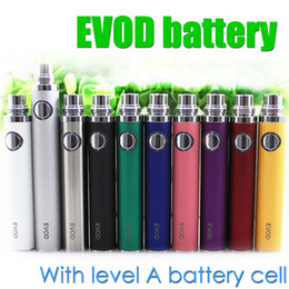 Wholesale Electronic Cigarette Evod Tanks - Top quality EVOD Battery Level A Battery cell for EVOD BCC MT3 CE4 CE5 protank aerotank BVC BDC glass tank Electronic Cigarette ego atomizer