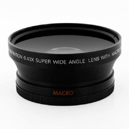Wholesale Dslr Wide - 67mm 0.43x Wide Angle Lens with Macro for Cannon Nikon Sony Olympus SLR DSLR cameras