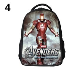 Wholesale Superhero Bags - Avengers School Bags Avengers backpacks superhero Schoolbags Cartoon school bag 3D schoolbag Leisure backpacks For Children H0628b