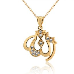 Wholesale Islamic Necklaces - Islamic ancient trade An Labo grade imitation gold necklace gold plated jewelry Pendant