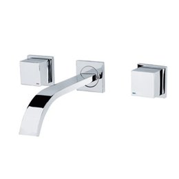 Wholesale Wall Taps Set - Cloud Power Dual Holder Three-hole Chrome Bathroom Sink Faucets Mixer with Wall Mounted ,Brass Bathroom Basin Tap Sets