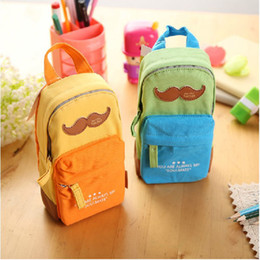 Wholesale Large Fabric Pencil Case - new South Korea's stationery lovely and large capacity Canvas pencil bags beautiful Pencil Cases pencil bag