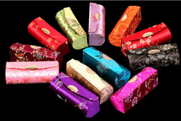 lipstick 12 pcs Coupons - Wholesale-wholesale Lot of 12 pcs CHINA HANDMADE SILK LIPSTICK BOX CASES+Free shipping!