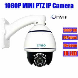 Wholesale Dome Security Camera Zoom - p2p 1080p HD surveillance MINI ip camera ptz 2MP infrared IR Speed Dome outdoor 10X optical ZOOM cctv IP PTZ security Cameras