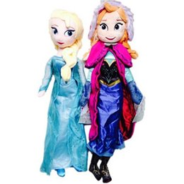 Wholesale Toy Ems Free - frozen doll 50cm 20 inch frozen elsa anna toy doll action figures plush toy frozen dolls Christmas Gift DHL EMS Free